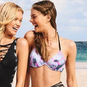 Top only 💖VS PINK Bikini Push-up Halter